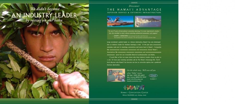Print Ad Campaign - Hawaii Convention Center Haku