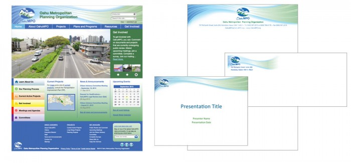 Oahu MPO Web and Collateral Design