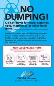 Opala Signage no Dumping