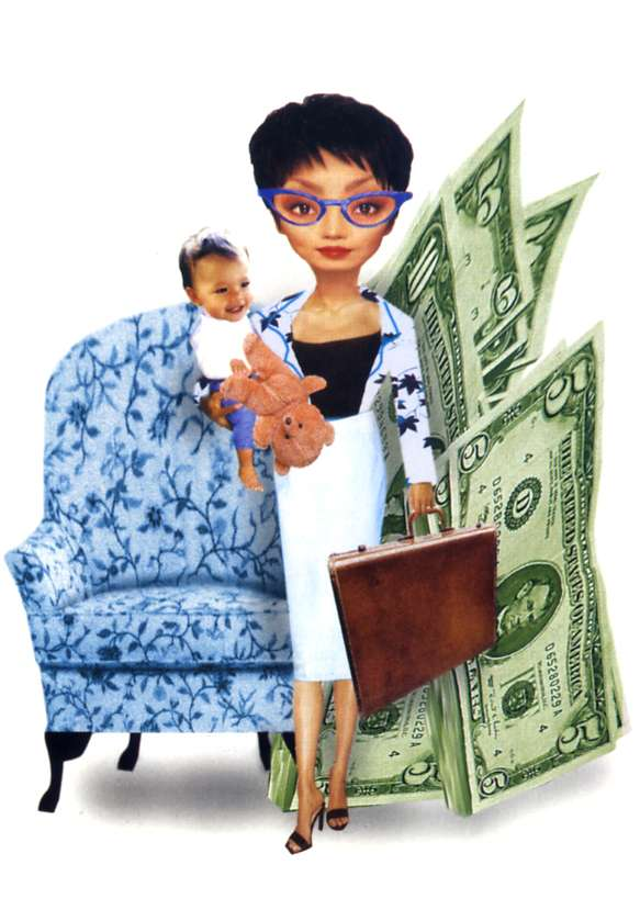 Illustration Style Photo Collage - Working Mom