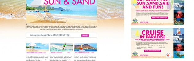 Waikiki Beach Activities Website and E-Marketing Design