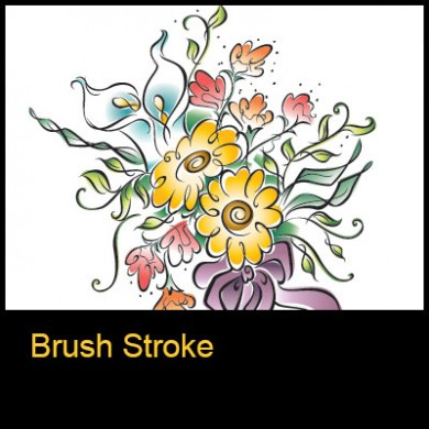 Ruth Moen Illustration Brush Stroke Icon