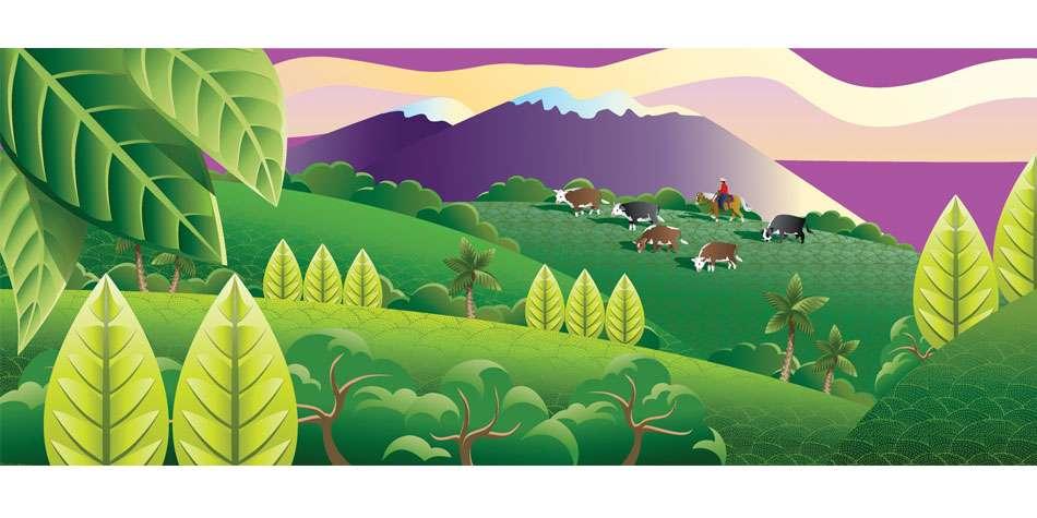 Ruth Moen illustration Airbrush Foodland Mural 3