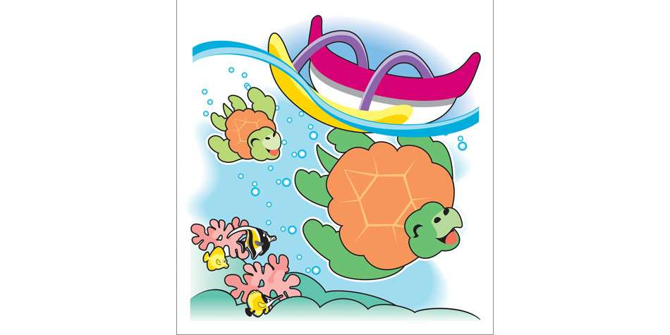 Ruth Moen illustration Children's Books Happy Honu Takes a Bath 1