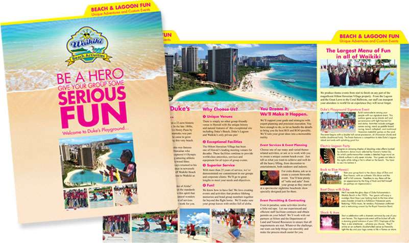 This brochure promotes services specifically for the group market including meetings, conventions and incentives.