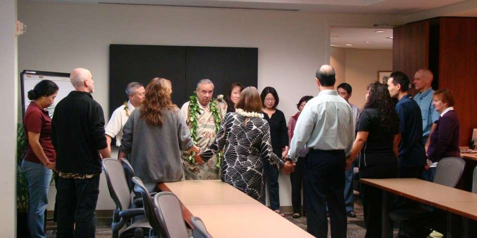 Kahu Silva Team Building Hawaii Dental Service HDS unity circle