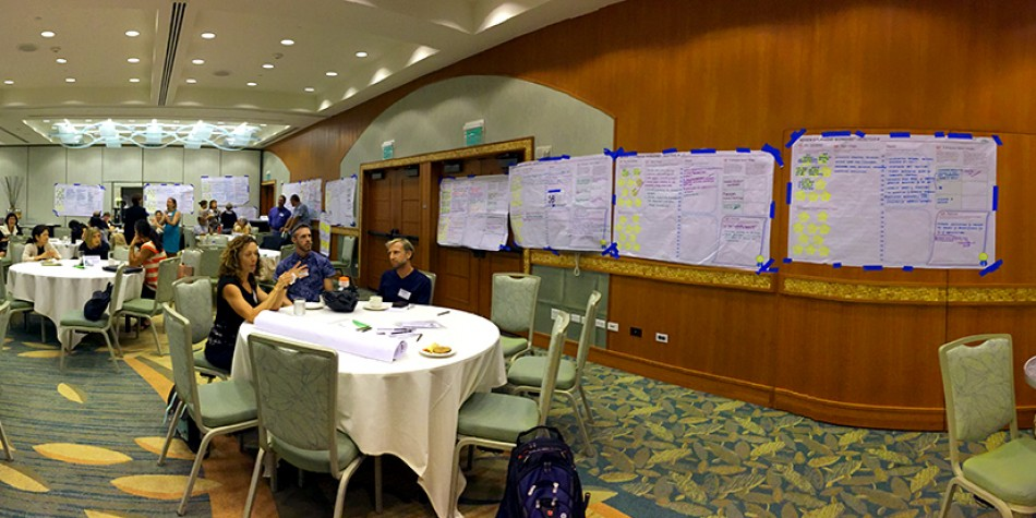 Meeting Design and Process Design using graphic recording, graphic facilitation and graphic templates for the Department of Health 2015 PAN Forum Conference, Honolulu Hawaii